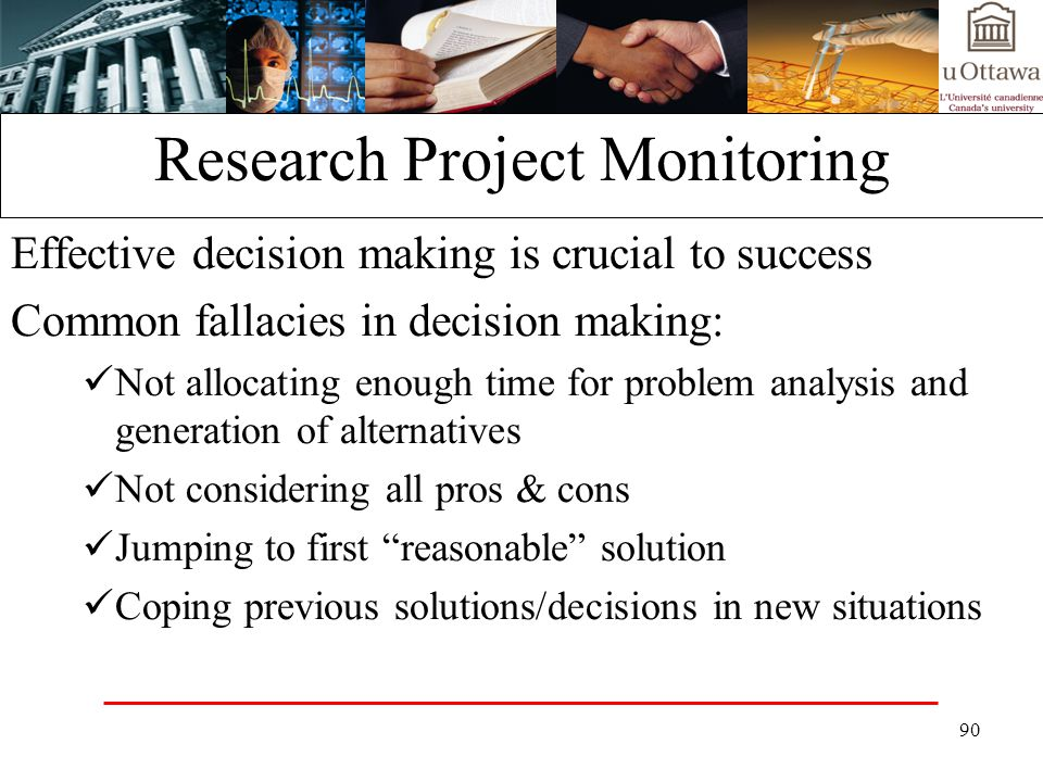 Research Project Monitoring