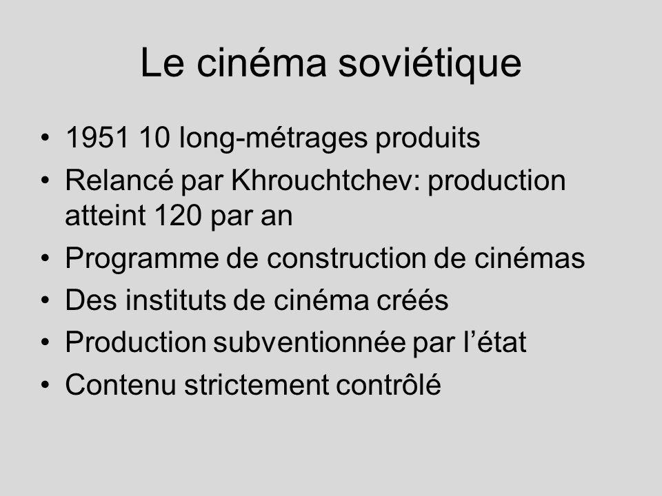 Le cinéma soviétique 1951 10 long-métrages produits