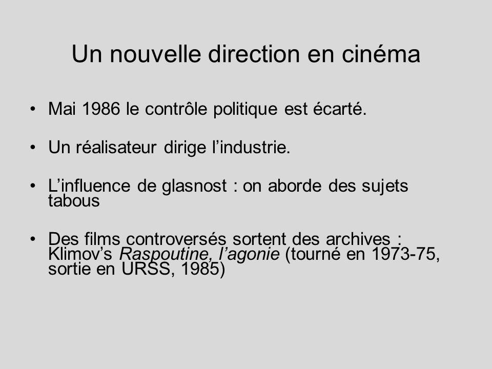 Un nouvelle direction en cinéma