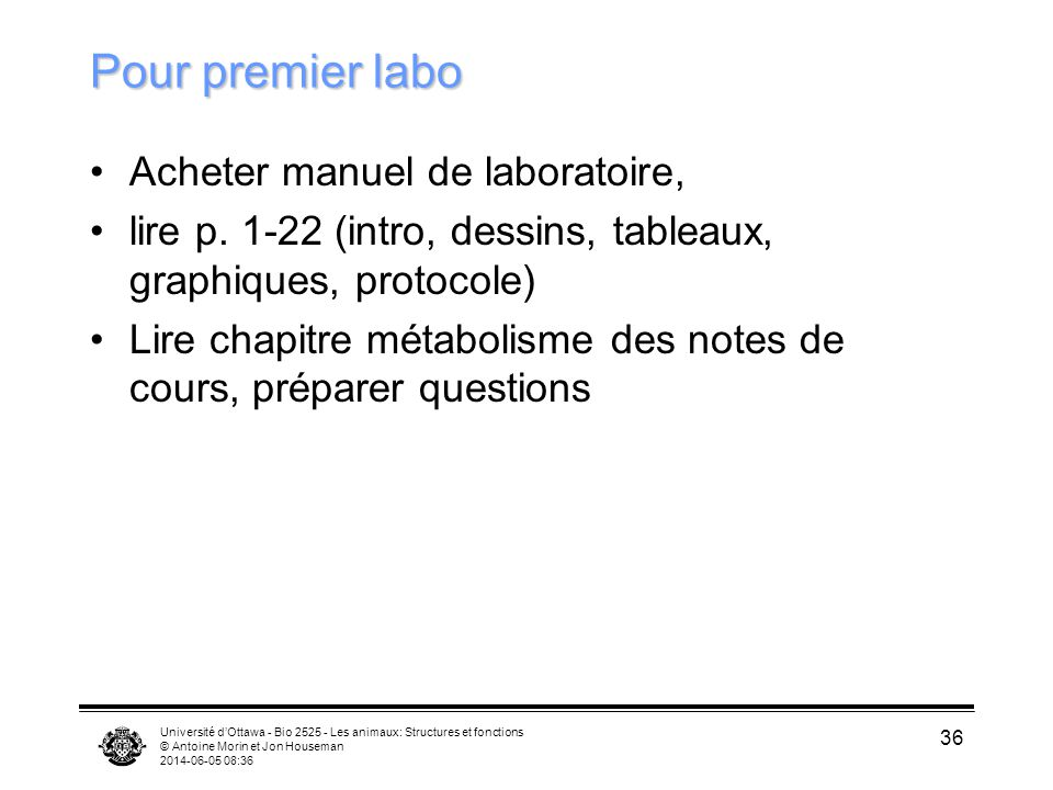 Pour premier labo Acheter manuel de laboratoire,