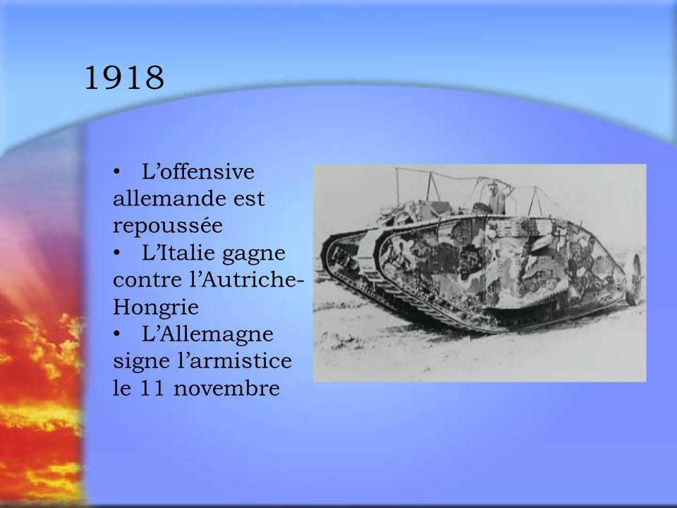 1918 L'offensive allemande est repoussée
