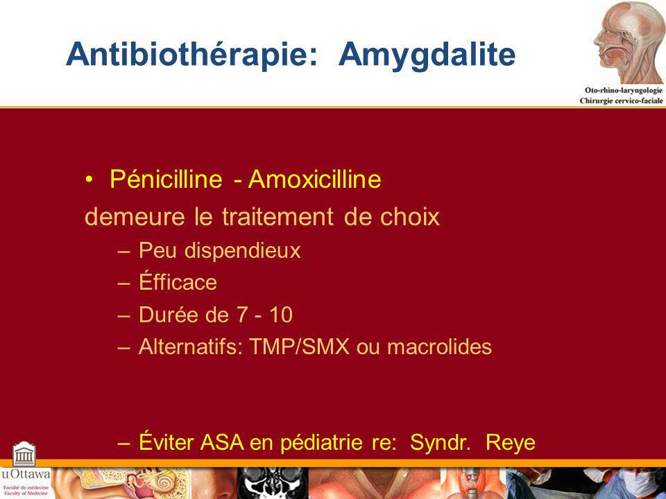 Antibiothérapie: Amygdalite