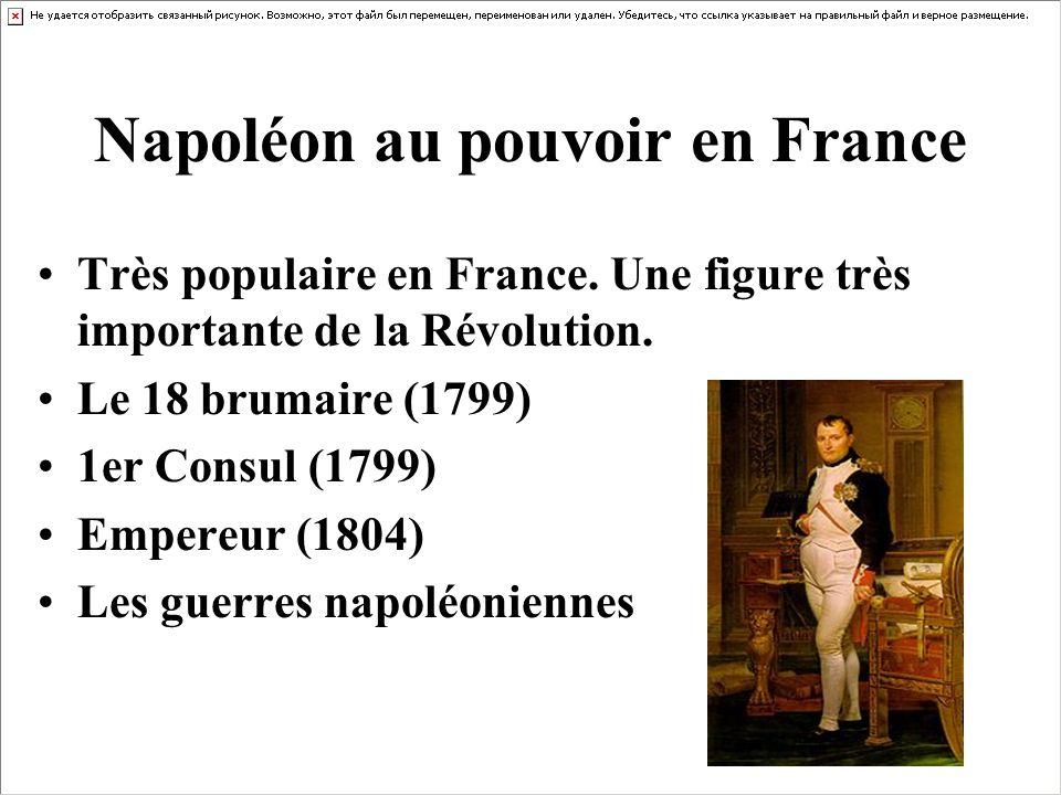Napoléon au pouvoir en France