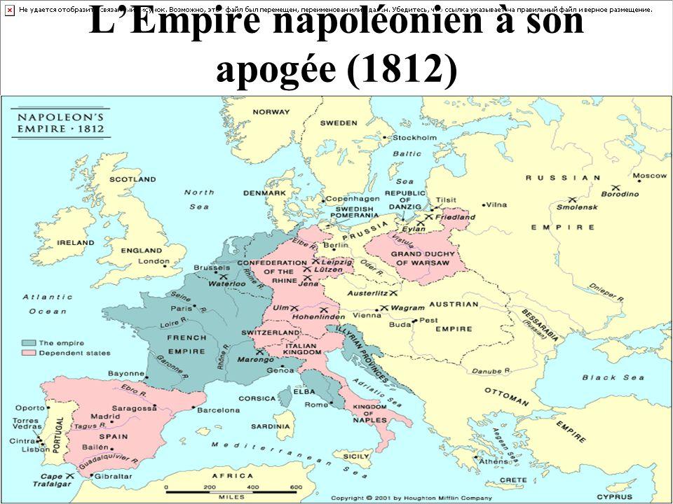 L'Empire napoléonien à son apogée (1812)