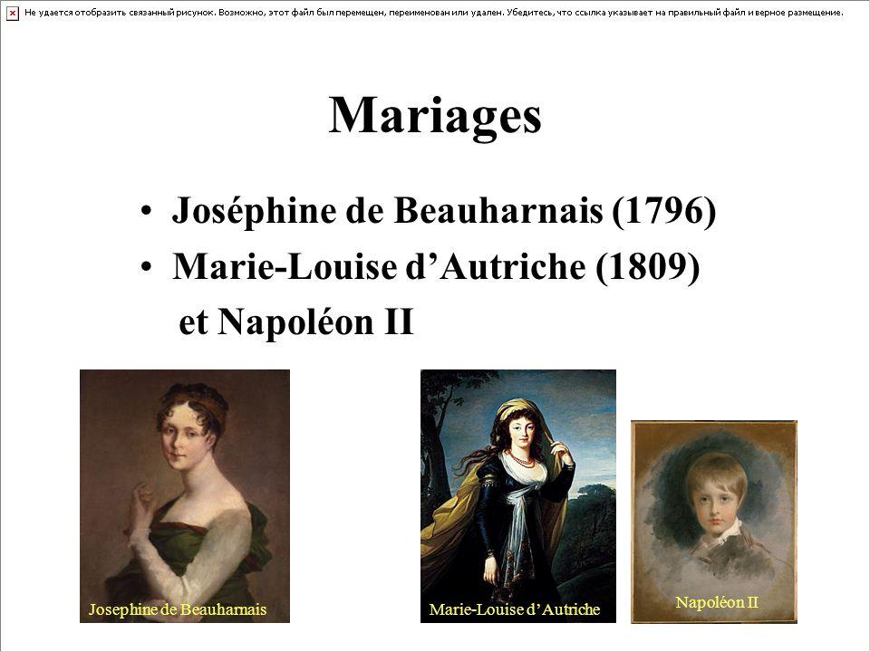 Mariages Joséphine de Beauharnais (1796)