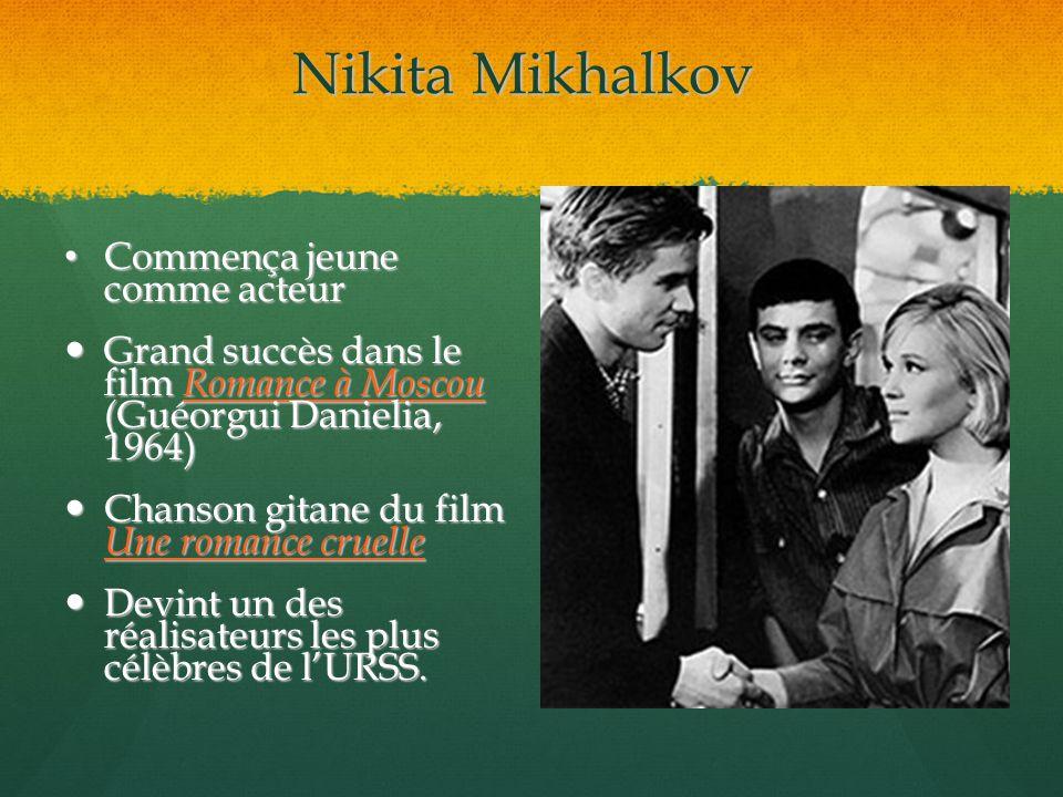 Nikita Mikhalkov Commença jeune comme acteur