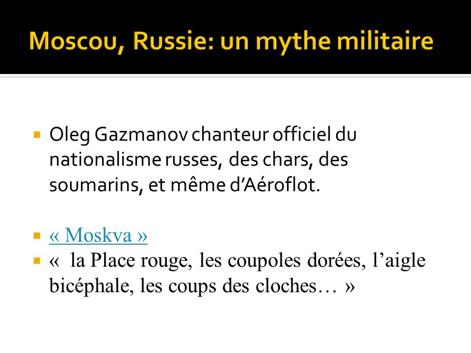 Moscou, Russie: un mythe militaire
