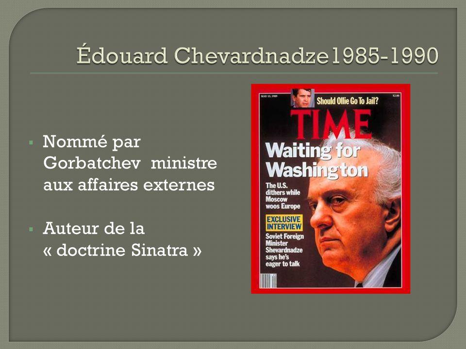 Édouard Chevardnadze1985-1990