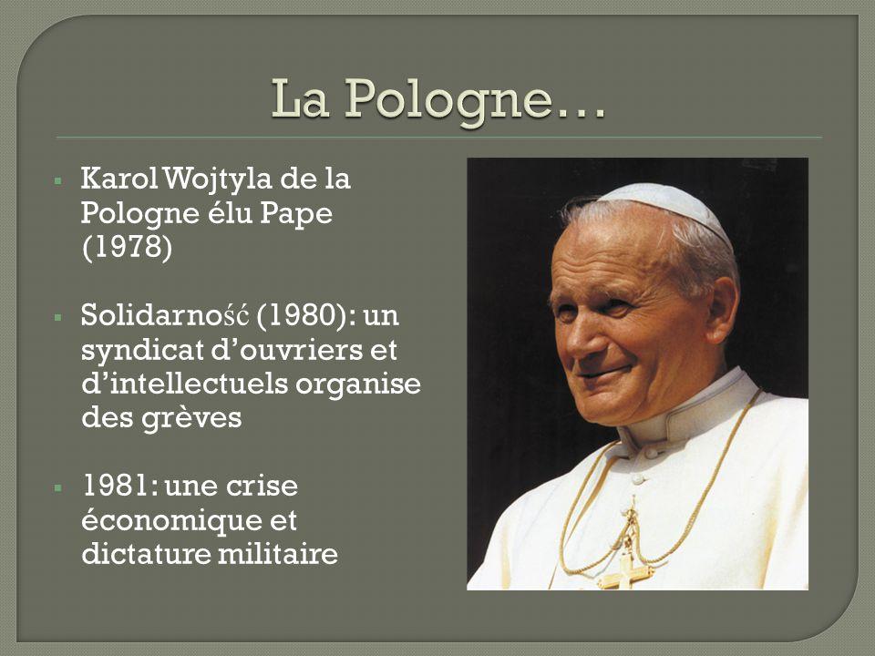 La Pologne… Karol Wojtyla de la Pologne élu Pape (1978)