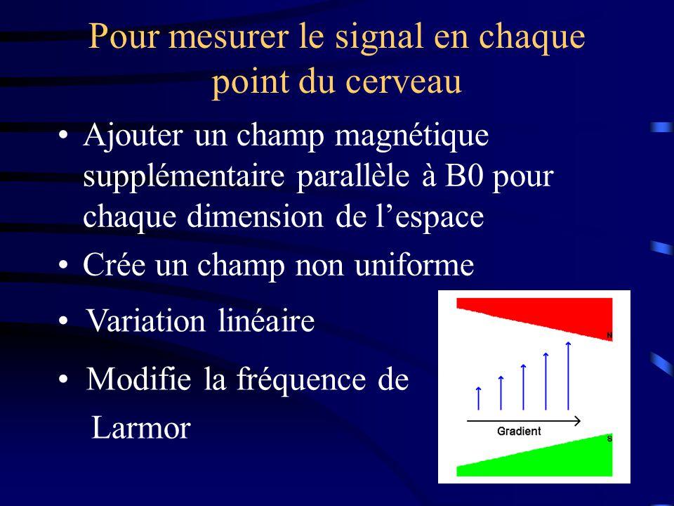 Pour mesurer le signal en chaque point du cerveau