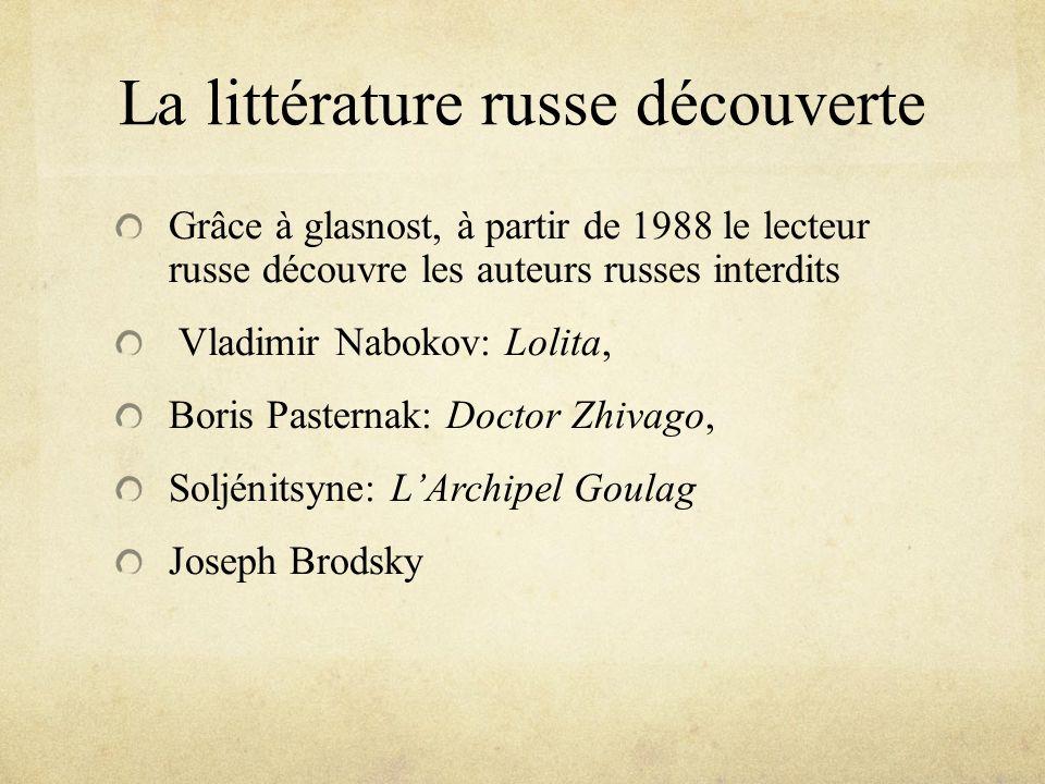 La littérature russe découverte