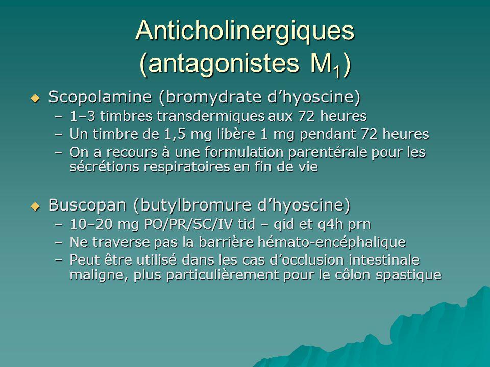 Anticholinergiques (antagonistes M1)
