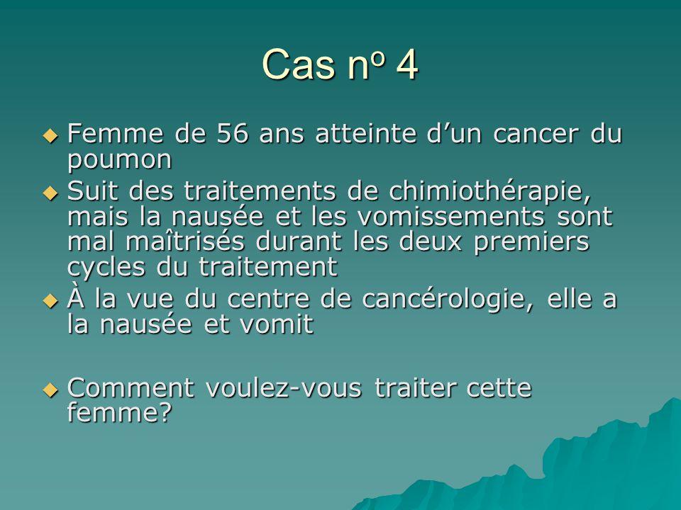 Cas no 4 Femme de 56 ans atteinte d'un cancer du poumon