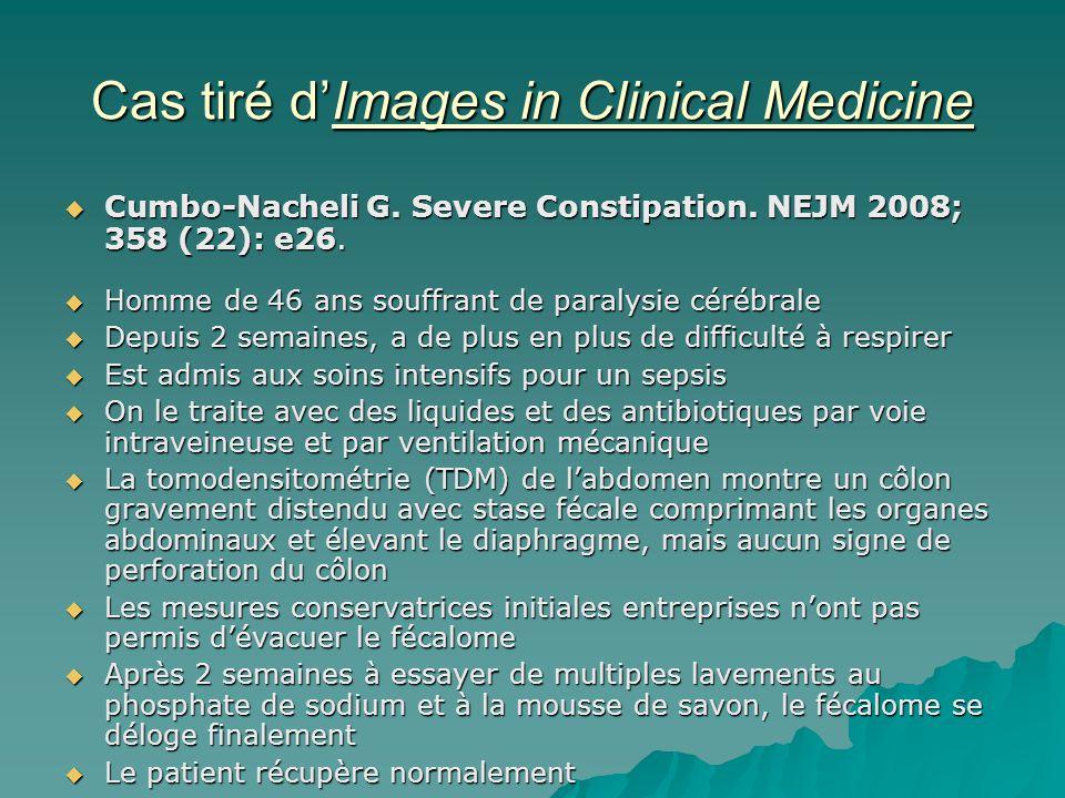 Cas tiré d'Images in Clinical Medicine