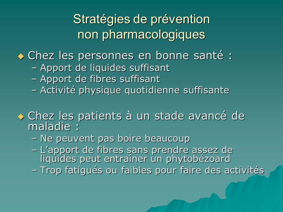 Stratégies de prévention non pharmacologiques