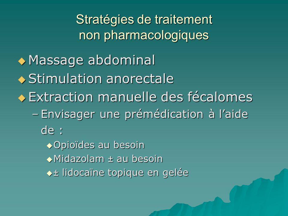 Stratégies de traitement non pharmacologiques