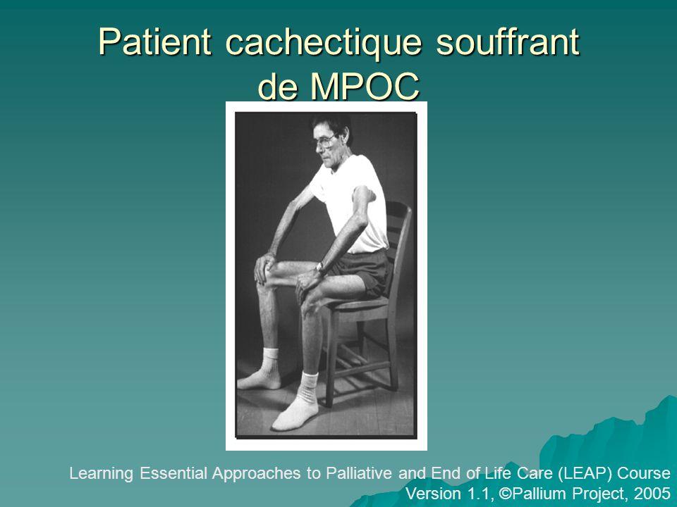 Patient cachectique souffrant de MPOC