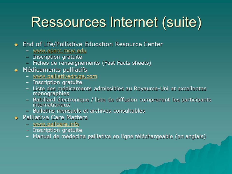Ressources Internet (suite)