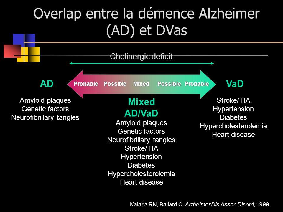 Overlap entre la démence Alzheimer (AD) et DVas