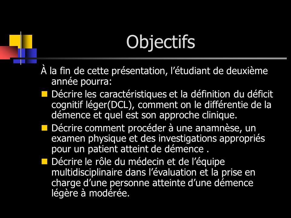 Objectifs À la fin de cette présentation, l'étudiant de deuxième année pourra: