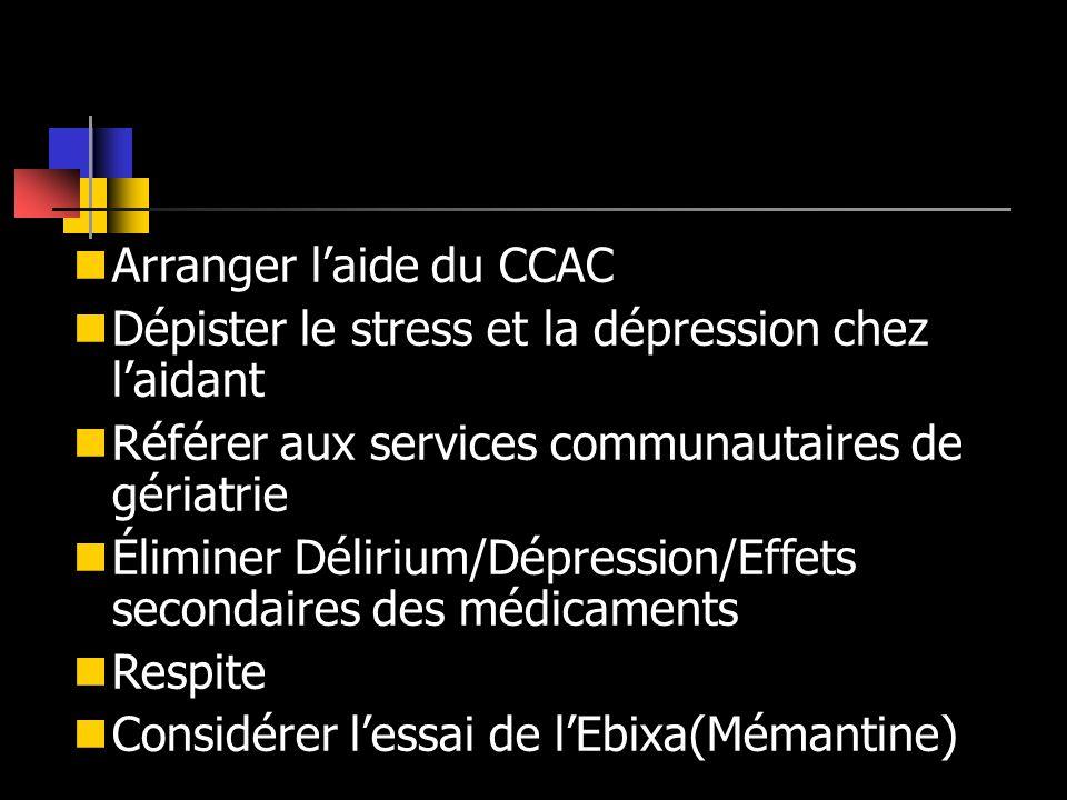 Arranger l'aide du CCAC