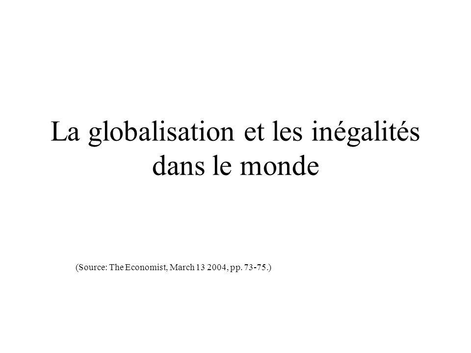 La globalisation et les inégalités dans le monde