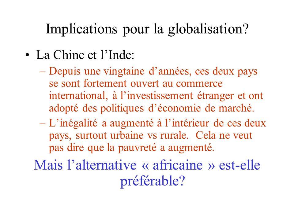 Implications pour la globalisation