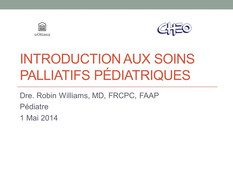 Introduction aux soins palliatifs pédiatriques