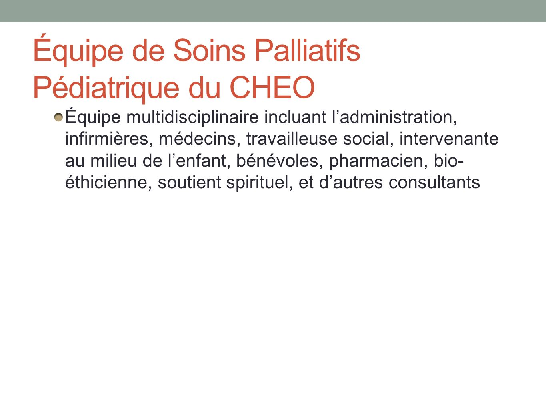 Équipe de Soins Palliatifs Pédiatrique du CHEO