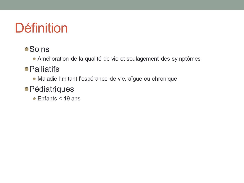 Définition Soins Palliatifs Pédiatriques