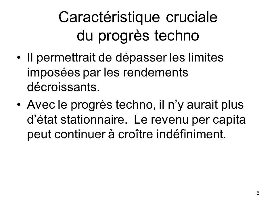 Caractéristique cruciale du progrès techno
