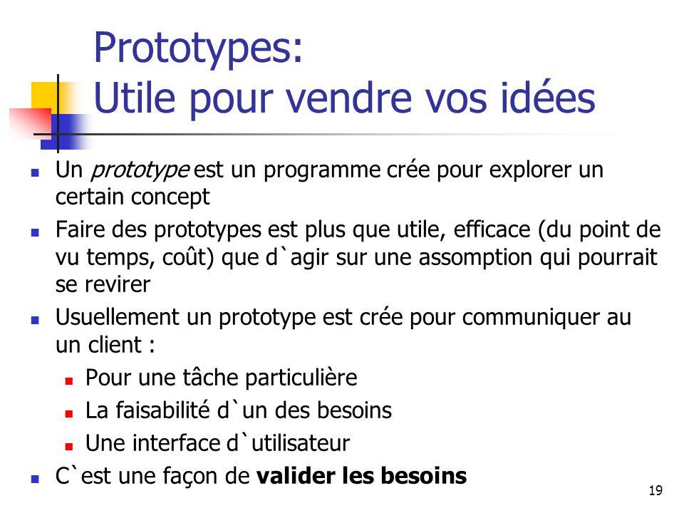 Prototypes: Utile pour vendre vos idées