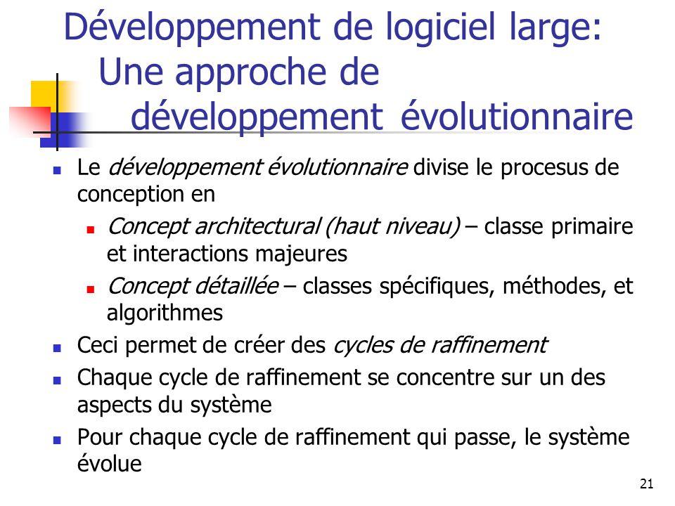 Développement de logiciel large: Une approche de. développement