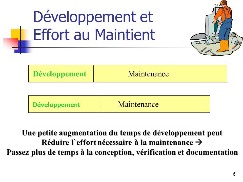 Développement et Effort au Maintient