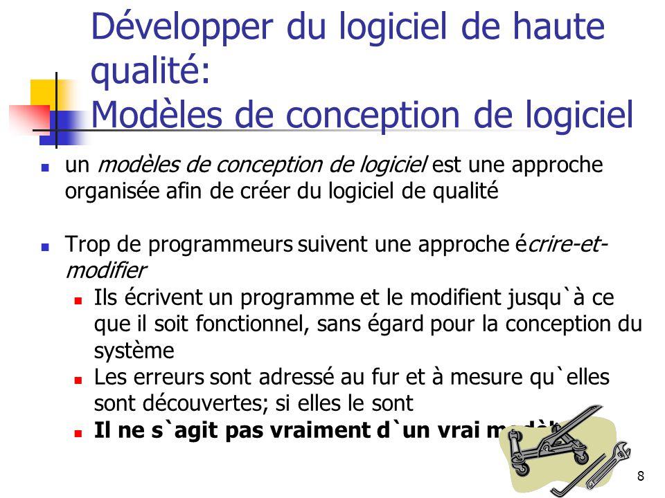 Développer du logiciel de haute qualité: Modèles de conception de logiciel
