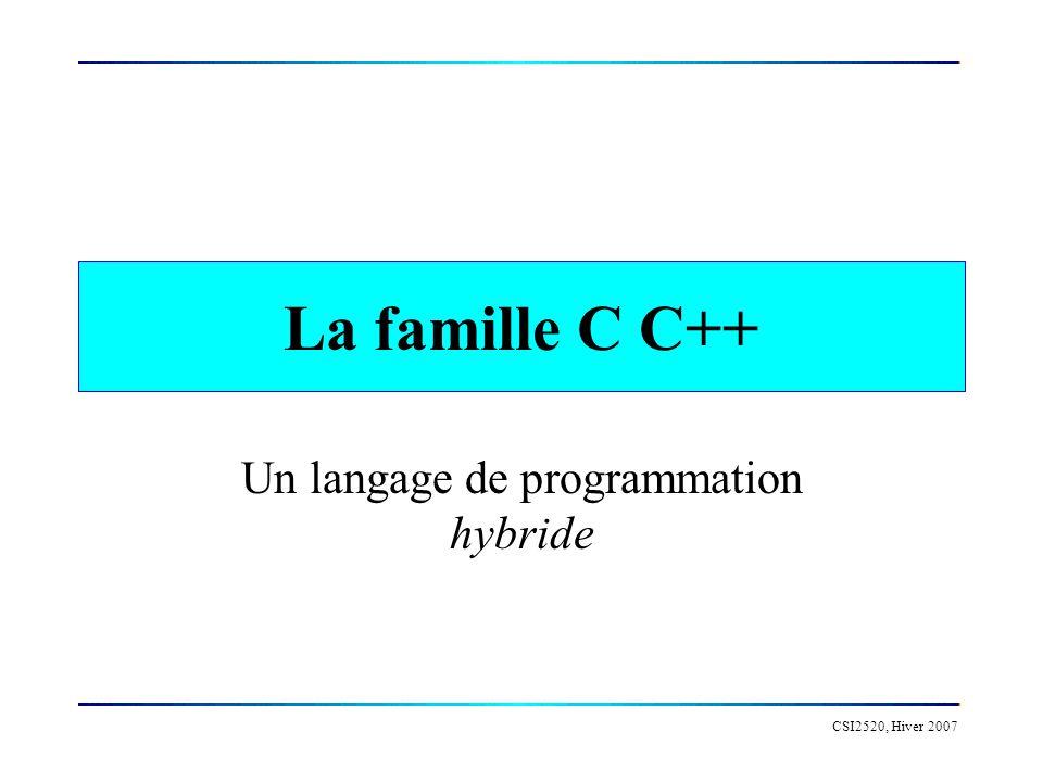 Un langage de programmation hybride