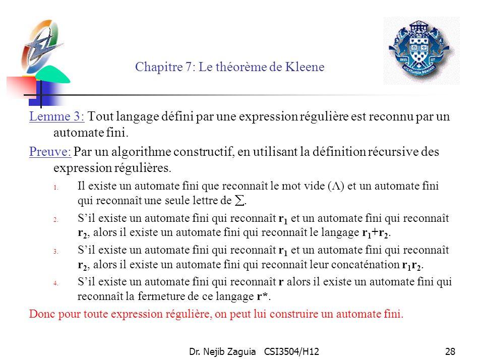 Chapitre 7: Le théorème de Kleene