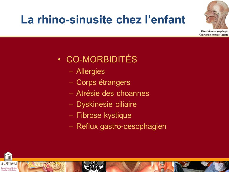 La rhino-sinusite chez l'enfant