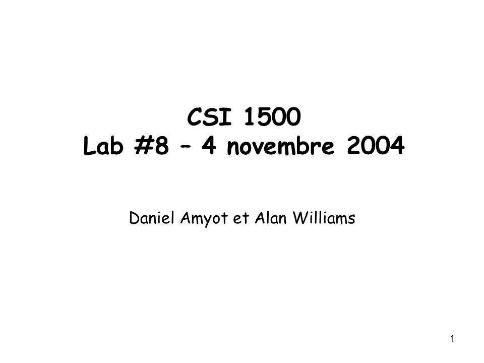 Daniel Amyot et Alan Williams