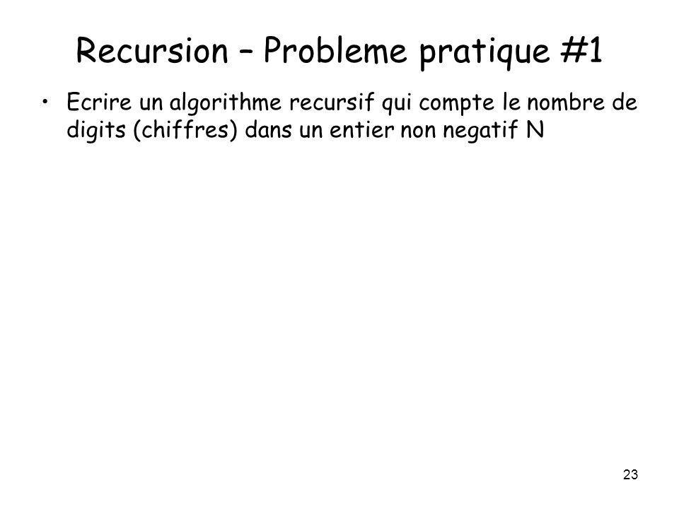 Recursion – Probleme pratique #1