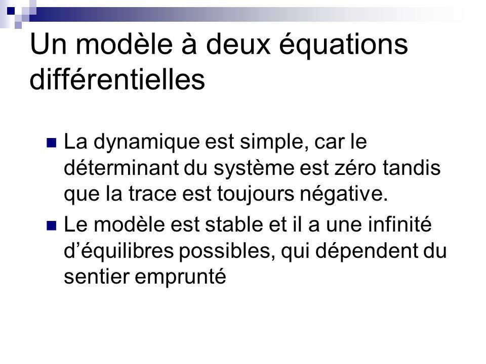 Un modèle à deux équations différentielles