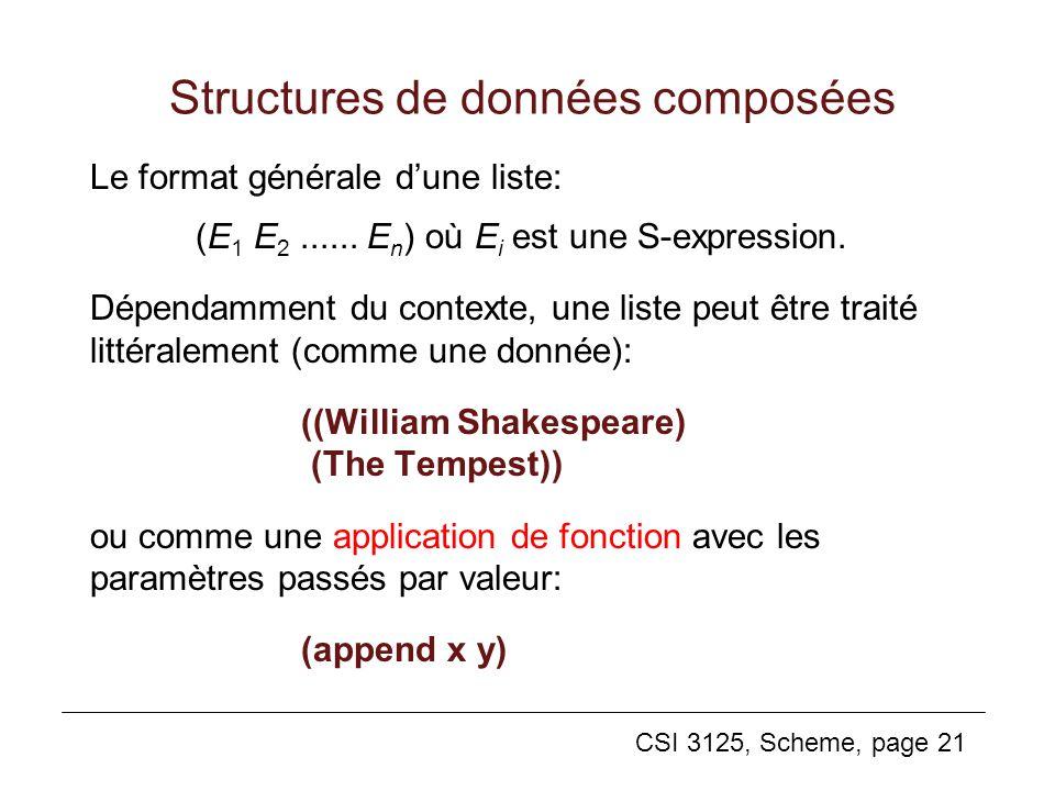 Structures de données composées