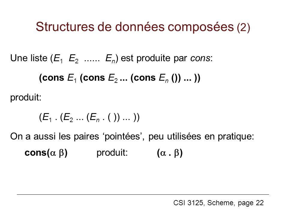 Structures de données composées (2)