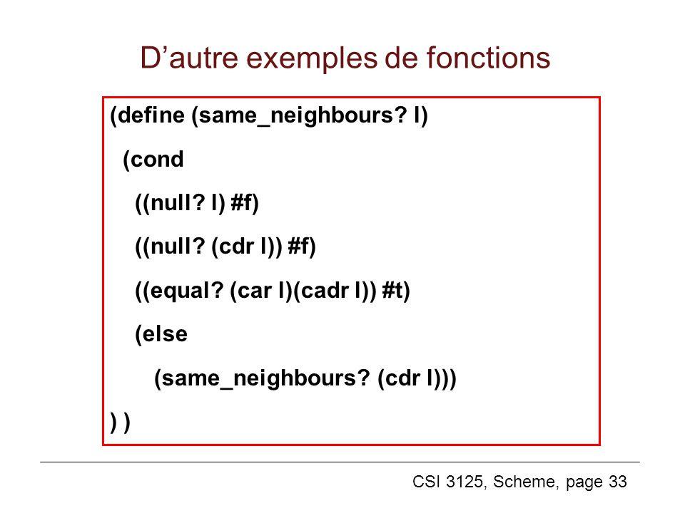 D'autre exemples de fonctions