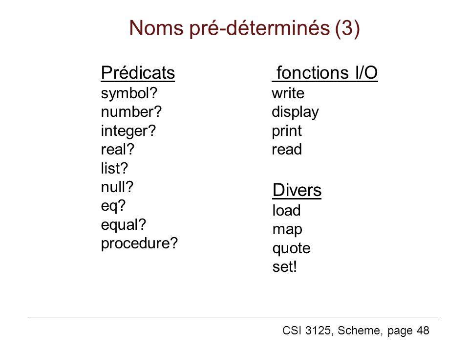 Noms pré-déterminés (3)