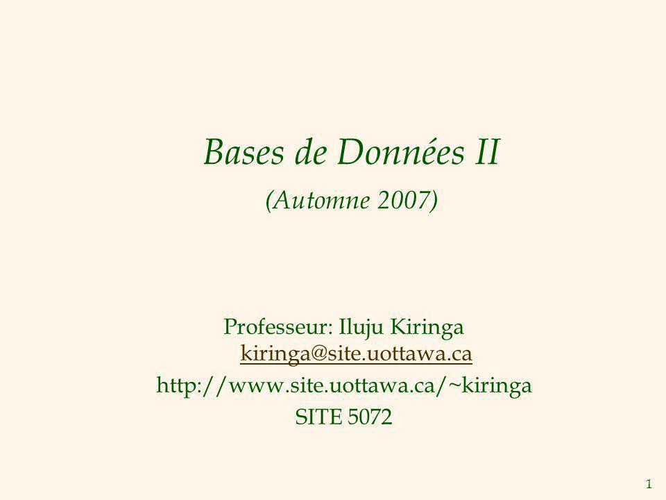 Bases de Données II (Automne 2007)