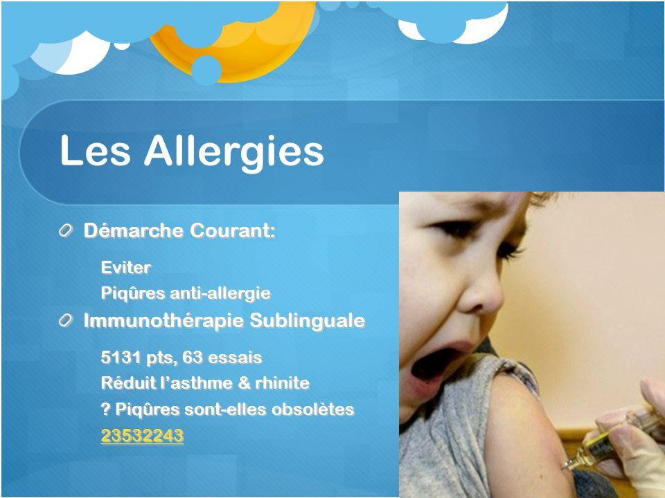 Les Allergies Démarche Courant: Immunothérapie Sublinguale Eviter