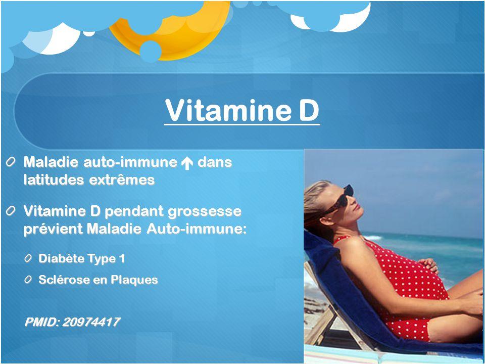 Vitamine D Maladie auto-immune  dans latitudes extrêmes