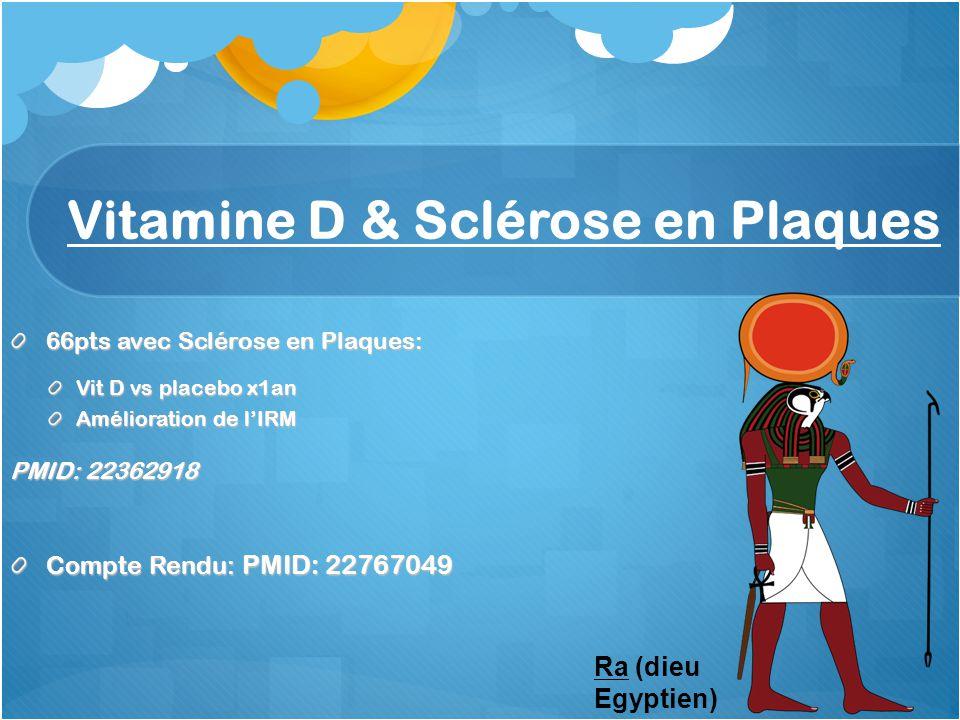 Vitamine D & Sclérose en Plaques