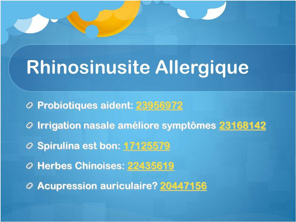 Rhinosinusite Allergique